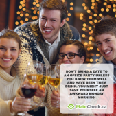 MateCheck.ca December Holiday Dating Tip